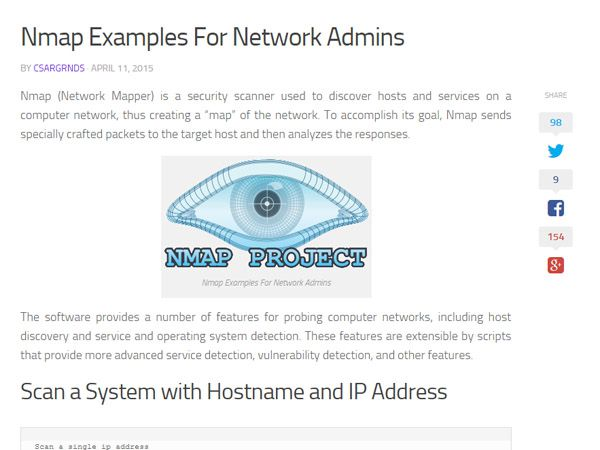 Nmap Examples For Network Admins