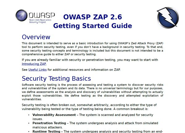 OWASP ZAP 2.6 Getting Started Guide